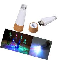 3 Pack USB Powered Rechargeable LED Cork Shaped Bottle Light