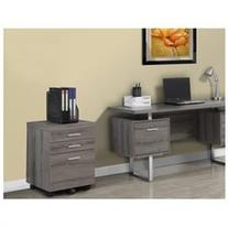 Monarch Specialties 3 Drawer File Cabinet on Casters Dark