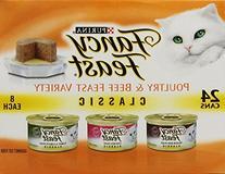 Fancy Feast Wet Cat Food, Classic, Poultry & Beef Feast