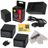 3 Opteka NP-FV100 4500mAh Ultra High Capacity Li-ion Battery
