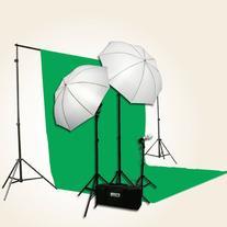 ePhoto 3 Point Chromakey Green Screen Video Lighting Kit 10