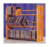 3 Row Dowel CD Rack