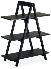 Winsome Wood 3-Tier A-Frame Shelf, Black