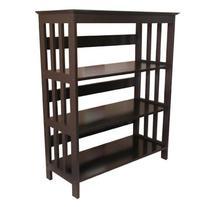 Legacy Decor 3 Tier Wooden Bookshelf / Bookcase Espresso