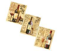 3 Wine Grape Art Prints Tuscany Posters Kitchen Decor Art
