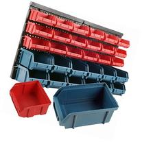 ADG 30 Bin Wall Mounted Parts Rack, 1 ea