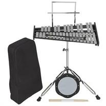 30 Notes Percussion Glockenspiel Bell Kit W/ Practice Pad +