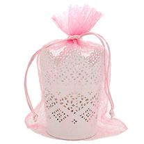30 Organza Pink Gift Party Favor Fabric Birthday Treat Goody