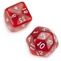 Set of 24 and 30 Sided Polyhedral Dice - Translucent Red D24