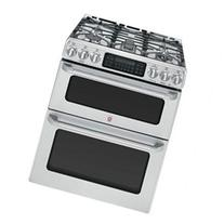GE Cafe 30 Stainless Steel Free-Standing Double Oven Gas