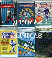 300 Vintage NFL Football Cards in Old Sealed Wax Packs -