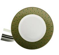 222 Fifth 3001GR712A1 Theorie Salad Plates, Green, Set of 4