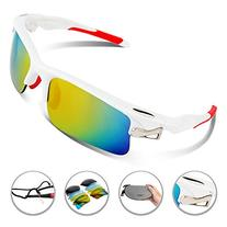 RIVBOS 308 Polarized Sports Sunglasses with 5 Set