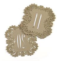 Hortense b Hewitt 30847 Kraft Laser Cut Table Number Cards