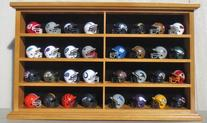 Pocket Pro Mini Football Helmet Display Case Cabinet Holders