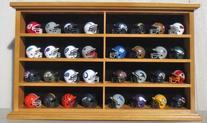 Pocket Pro Mini Football Helmet Display Case Cabinet Holders