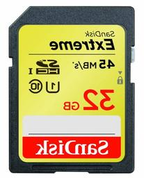 SanDisk Extreme 32 GB SDHC Class 10 UHS-1 Flash Memory Card