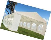 32'x16' Heavy Duty Wedding Party Tent Canopy Carport White
