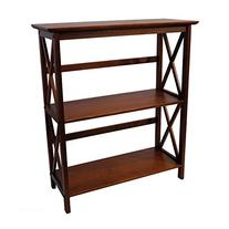 Casual Home 324-34 Montego 3-Tier Bookcase, Walnut
