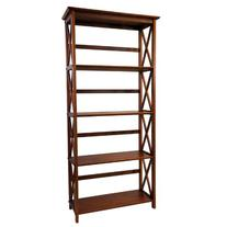 Casual Home 324-54 Montego 5-Tier Bookcase, Walnut