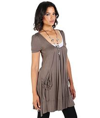 3303 Tunic Dress With Necklace