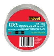 "Scotch 3311 Aluminum Foil Tape, 2"" x 10 yd, 3.6 mil, Silver"
