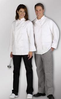 Medline 335ERS52 Coat - Chef - Long Sleeve - White - Size 52