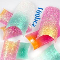 350buy NEW 100X Sparkling French Nail Tips Stunning Mix