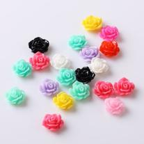 350buy 20pcs New Colorful Acrylic 3D Rose Flower Slices UV
