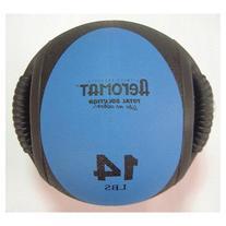 Aeromat 35135 Dual Grip Power Med Ball 9 in. Dia. 14 LB