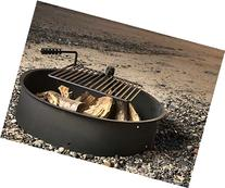 """36"""" Steel Fire Ring with Cooking Grate Campfire Pit Park"""