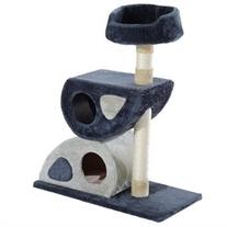 Pawhut 36 Multi-Level Cat Tree Tower - Beige/Black/White