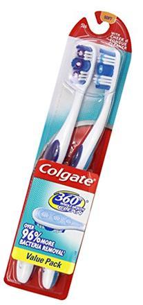 360 Full Head Soft Toothbrush Twin Pack, 2/PK
