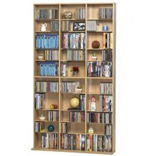 Atlantic Oskar Adjustable Media Wall-Unit - Holds 1080 CDs,