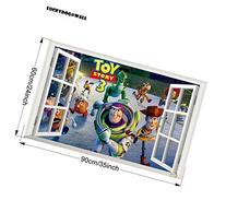 Luckydog@wall 3d Anime Toy Story Wall Stickers Art Bedroom