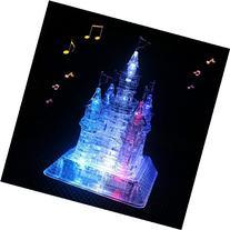 WAYCOM 3D Crystal Castle Puzzle - 3D Jigsaw, Light-Up