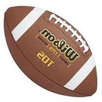 TDS Traditional Leather Football in Brown