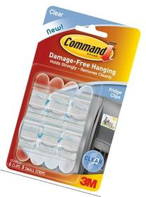 3m 17210CLR Clear Command Refrigerator Clips 6 Count