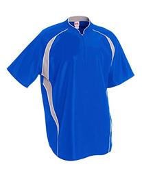 Youth Large Royal Blue/White 1/4 Zip Baseball/Softball