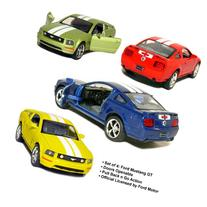 "Set of 4: 5"" 2006 Ford Mustang GT with Stripes 1:38 Scale"
