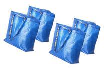 4 Ikea Frakta Shopping Bags 10 Gal Blue Tote Multi Purpose