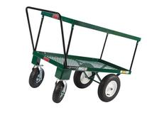 4-Wheel Double Deck Push Cart, 24-Inch by 48-Inch, Green