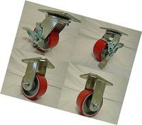"""4"""" X 2"""" Swivel Caster Heavy Duty Polyurethane Wheel on Steel"""