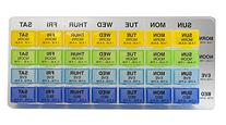 Ezy Dose Weekly Med-Control Tray Pill Planner