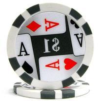 Trademark Poker Premium 4 Aces 50 Poker Chips , 11.5gm