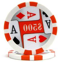 Trademark Poker Premium 4 Aces 100 Poker Chips , 11.5gm