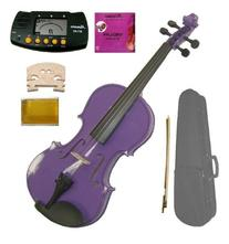 GRACE 4/4 Size Acoustic Purple Violin with Case and Bow+