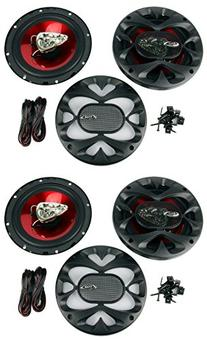 "4) New BOSS CH6530 6.5"" 3-Way 600W Car Audio Coaxial"