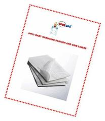 Oops Pad 4-Ply White Changing Station Table Liners 500ct