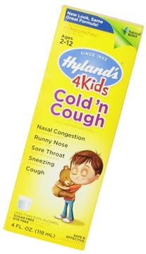 Hyland's 4 Kids Cold and Cough Liquid, Safe and Natural